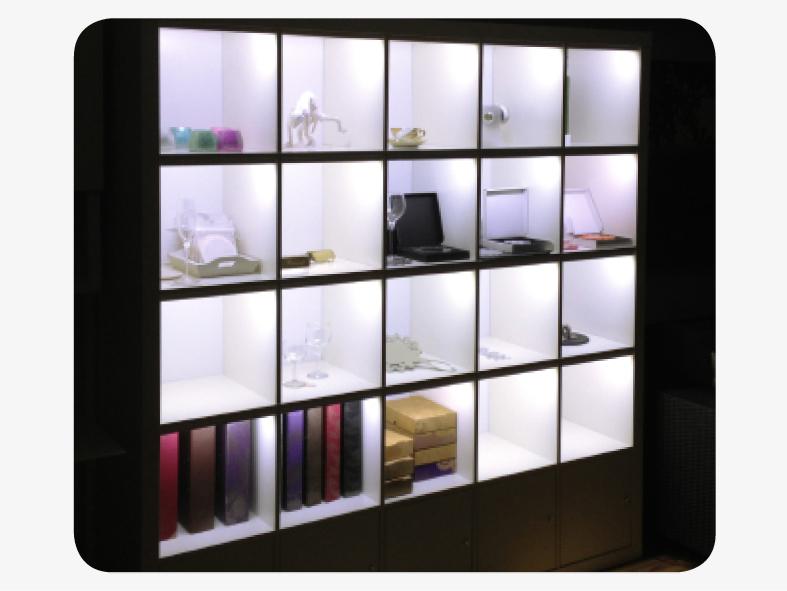 Raumtrenner LED Wohnraumgestaltung