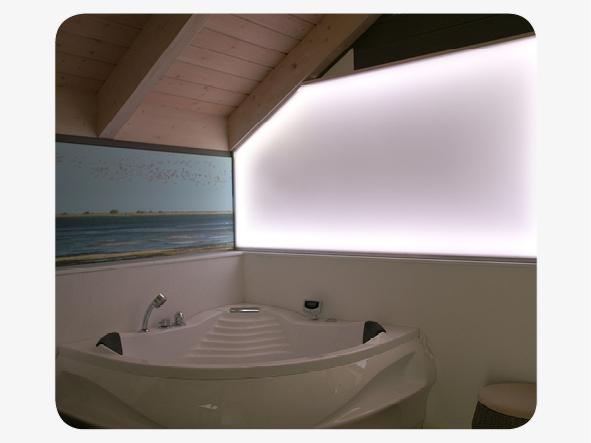LED Lightwall mit Plexiglas zur Raumgestaltung