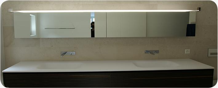 LED Beleuchtung Bad Spiegelschrank
